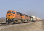 BNSF 7515, 4356, ????, and 8144
