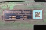 EMD builders plate BN GP38-2 2079