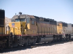 UP 3223 #2 power in an EB doublestack ILBNO (Long Beach - New Orleans) at 11:13am
