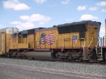 UP 4787 #3 power in an EB autorack/doublestack at 12:50pm