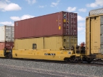 DTTX 742521 in an EB autorack/doublestack at 12:50pm