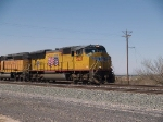 UP 5229 leads an EB manifest at 2:20pm