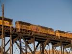 UP 4812 #3 unit in a WB doublestack KATLB (Atlanta - Long Beach) at 7:31am