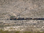 UP 7796 decends the grade towards El Paso leading an EB autorack/doublestack at 1:56pm