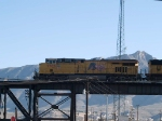 UP 7705 leads a WB doublestack KATLB (Atlanta - Long Beach) at 9:05am