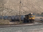 UP 4357 leads a WB grain train at 3:31pm