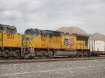 UP 5167 #5 power in a WB doublestack at 4:09pm