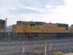 UP 4102 #3 power in a WB doublestack at 8:30am