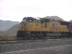 UP 5114 leads a WB doublestack at 9:06am
