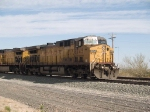 UP 6745 leads an EB empty coal train at 9:26am