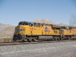 UP 7648 leads a WB doublestack at 2:41pm