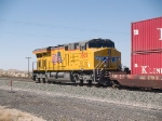 UP 7805 rear DPU on an EB doublestack at 3:25pm