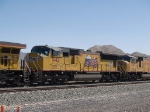 UP 5142 #2 power in a WB doublestack IMNLB-29 (Marion, AR - Long Beach) at 12:03pm