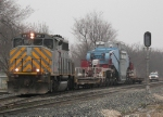 Southbound KCS Special Transformer Load With CPOX 820 - Schnabel Car