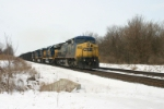 CSX 9027 leads empty coke hoppers
