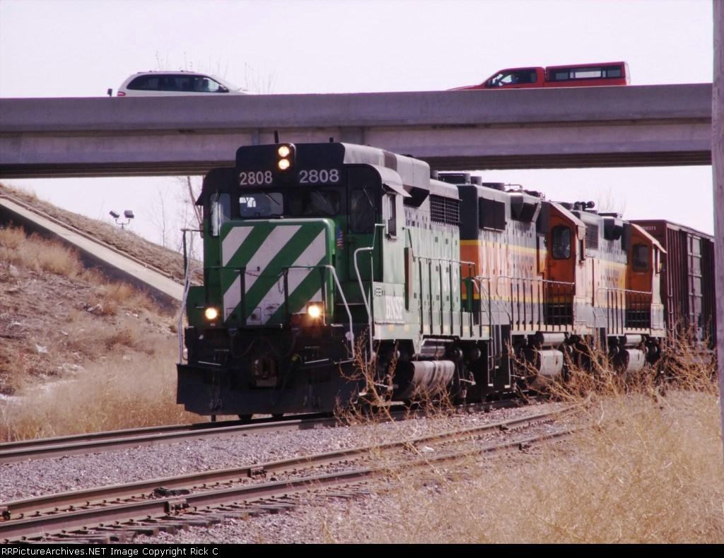 3 BNSF Units Led By BNSF 2808