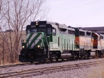 BNSF 2808 Leads 3 Units & A Cut Of Cars