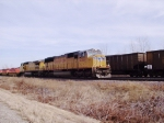 UP 4369 Leads K-Line Containers WB
