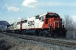 Classic painted SD's power a train East