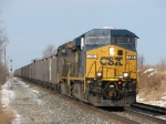 CSX 725 leads N913-04 down the main