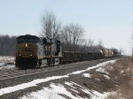 CSX 5258 & 5261 start pulling towards the end of the siding with Q335-04