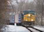 CSX 5457 rolling through the double track with Q326-11