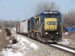 CSX 7518 & 7903 head east with the 12 cars or Q326-24