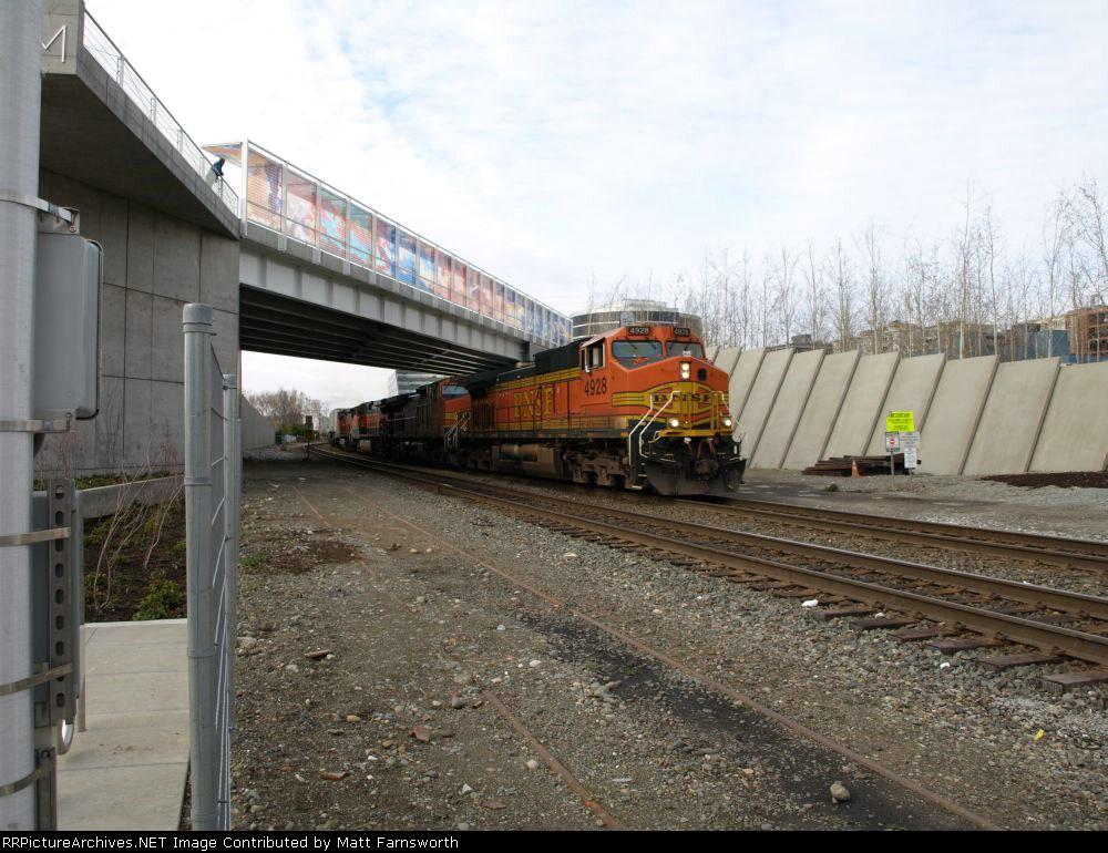 South bound UPS train