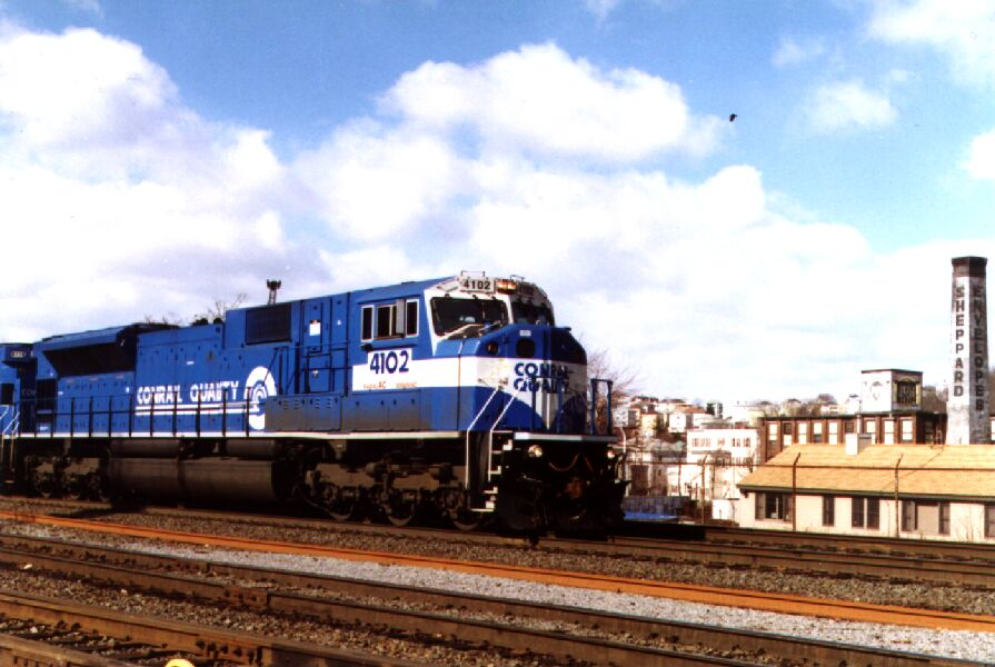CR 4102 leads a freight