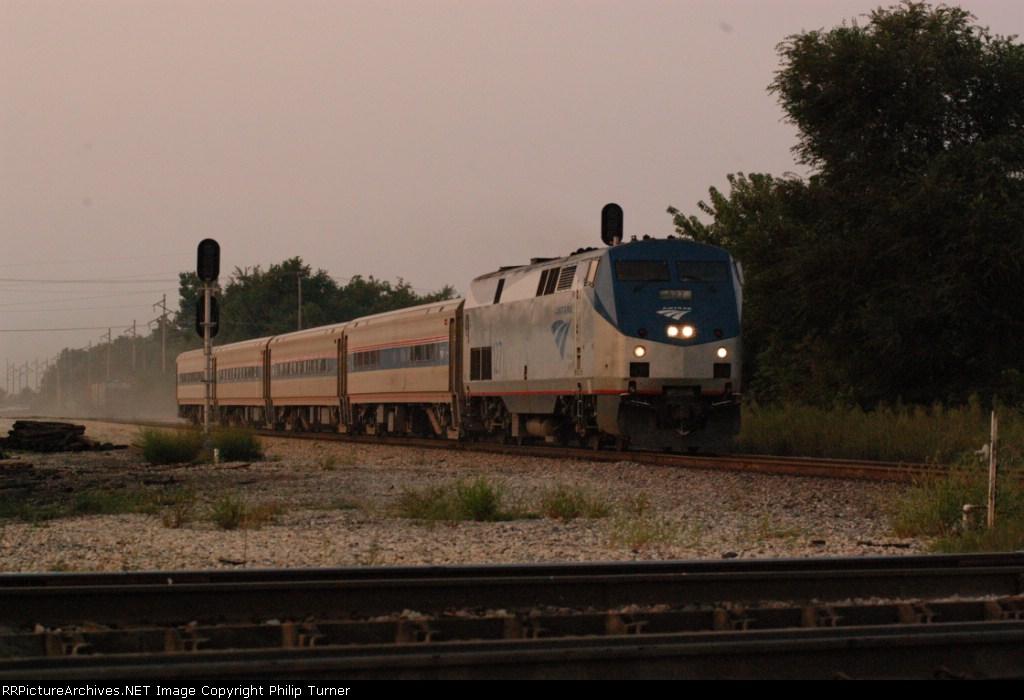 Amtrak 391 finally make it way south across the NS