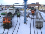 Ten Locomotives, 2 Snow Plows, a MoW Truck and some Freight Cars Highlight the Yard this Day