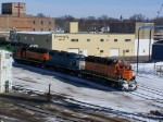 Five Geeps of Various Types Idle in the BNSF Sioux Falls Yard