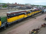 DAIR 4028 & Others Assist With a Gravel & Ballast Train