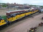Helper Power on a Southbound DAIR Gravel/Ballast Train
