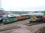 Assorted Geeps Await Assignment in the BNSF Yard
