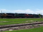 A Small Freight Train Rumbles Past Falls Park