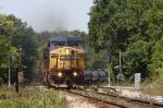 CSX Q613 rounds the curve at the south end of town