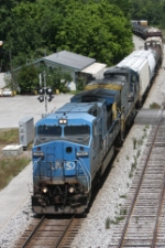 CSX Q613-15 Passes the Amtrak Depot