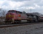 BNSF 857 lead NS train North through Dalton