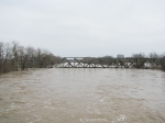 Floodwaters at the BNSF (BN, SLSF) Bridge on the Cuba Sub