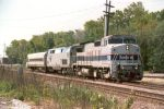 Amtrak with a mini train