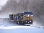 CSX 9050 on the point of a 5 unit consist westbound near King Rd