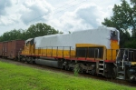 UP 8635 in shrink wrap