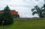 BNSF 7395 peeking out