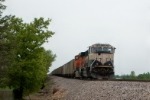 BNSF 9788 and BNSF 5779 with coal train