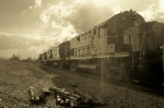 Arkansas & Missouri train going away