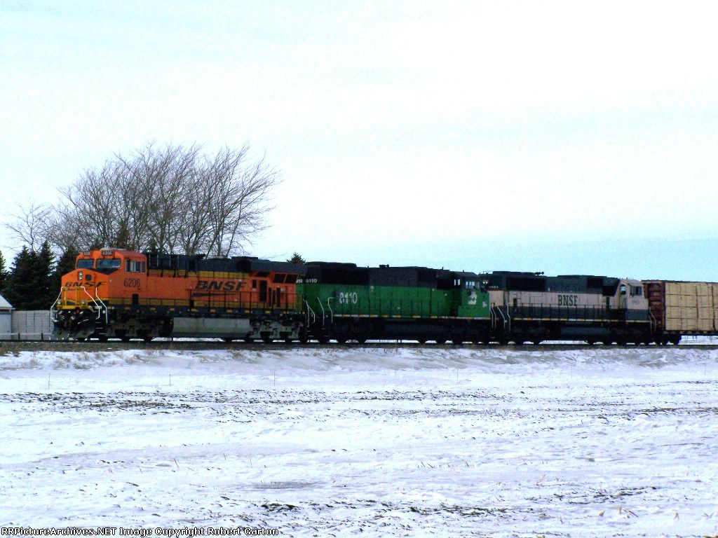 Nice Assortment of Power on a South-Bound Freight Consist