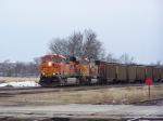 BNSF 5950 Takes a Coal Train North
