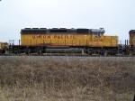 Trailing Locomotive of the MoW Train Near Port Neal Landing