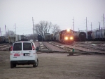 UP 4860 & its Train Sit in the Yard; Looks Like a Crew Change is Immanent